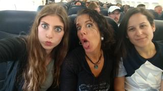 Goofy pic on plane